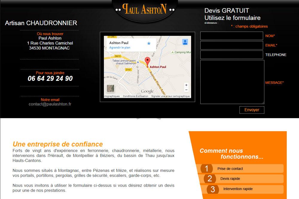 conception site internet montagnac pour notre client. Black Bedroom Furniture Sets. Home Design Ideas